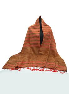 Indochine Orange Hand Loomed Ladies Wool Cotton Shawl