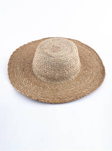 Eco-Friendly & Heritage Green Natural Jute Plane Woven Reusable Fedora Hat