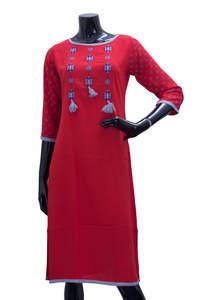 Cardinal Red Ladies Fancy Kurta/ Kurti