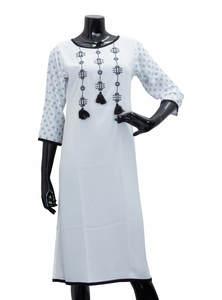 White Ladies Fancy Kurta/ Kurti