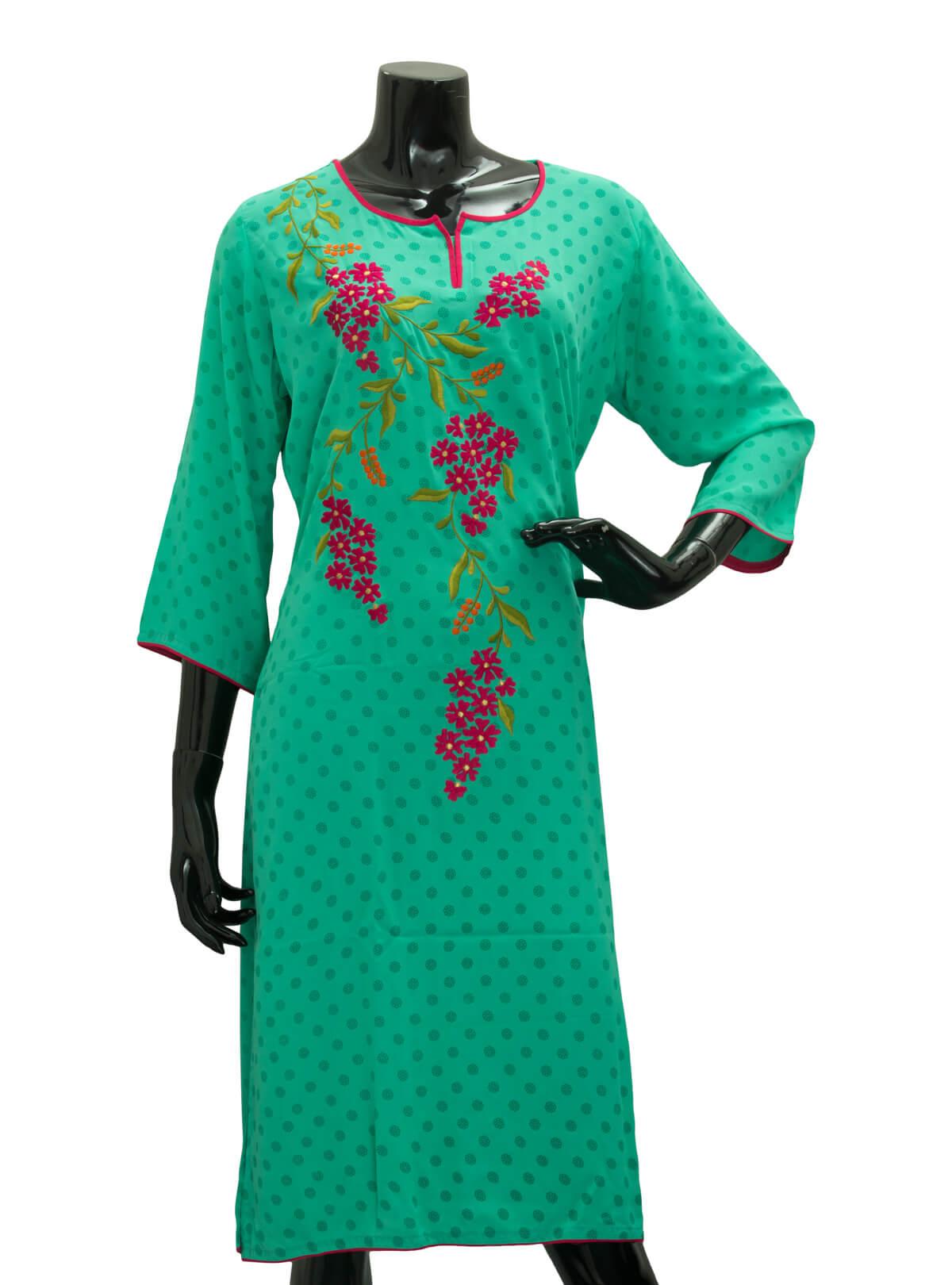 Persian Green Ladies Fancy Kurta/ Kurti