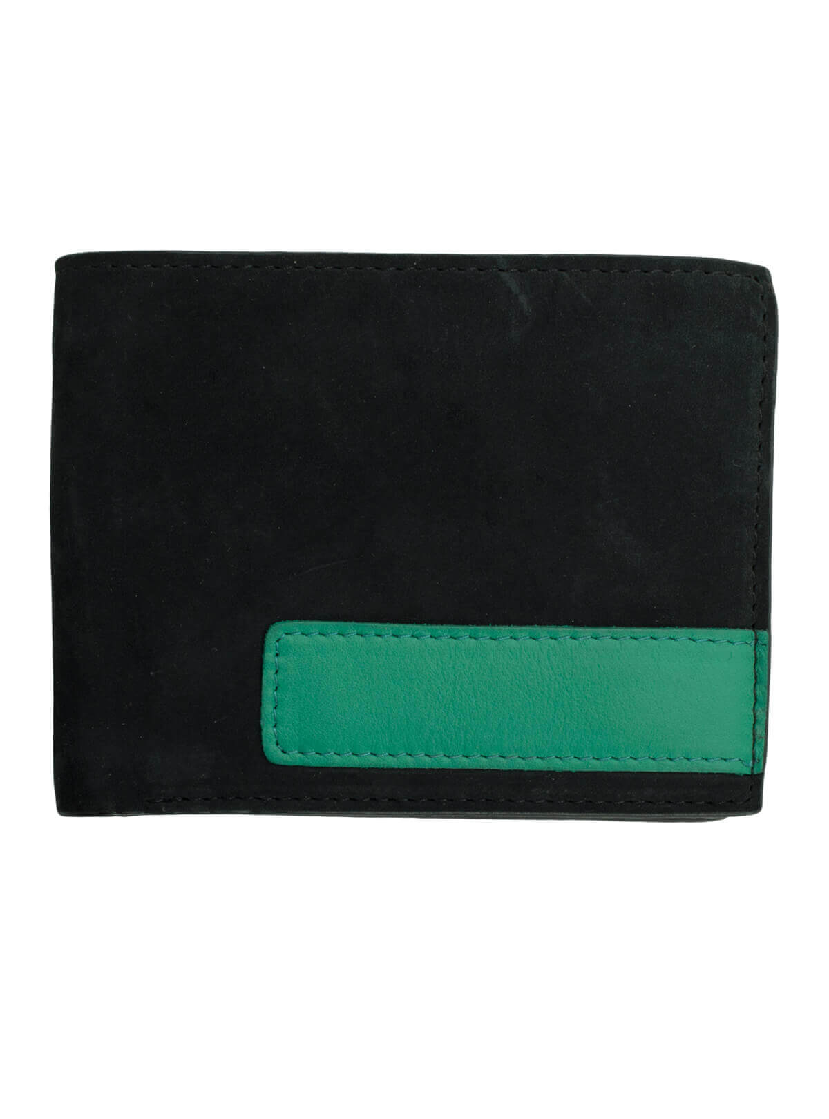 Men's Two Tone Leather Bi-Fold Wallet Extra Capacity Casual Slim Thin For Travel