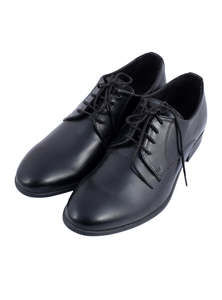 Flow Men's Black Ambassador Lace-Up Formal Modern Round Cap Toe Shoes