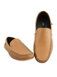 Flow Men's Brown Slip-On Loafer Modern Shoes