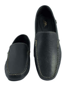 Flow Men's Black Slip-On Loafer Modern Shoes