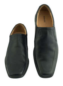 Flow Men's Black Stylist Slip-On Shoes