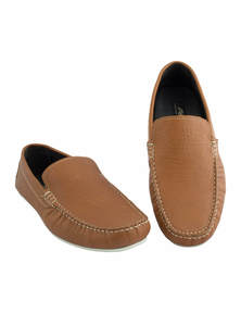 Flow Men's Brown Stylist Slip-On Loafer Shoes