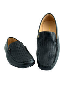 Flow Men's Black Stylist Slip-On Loafer Shoes