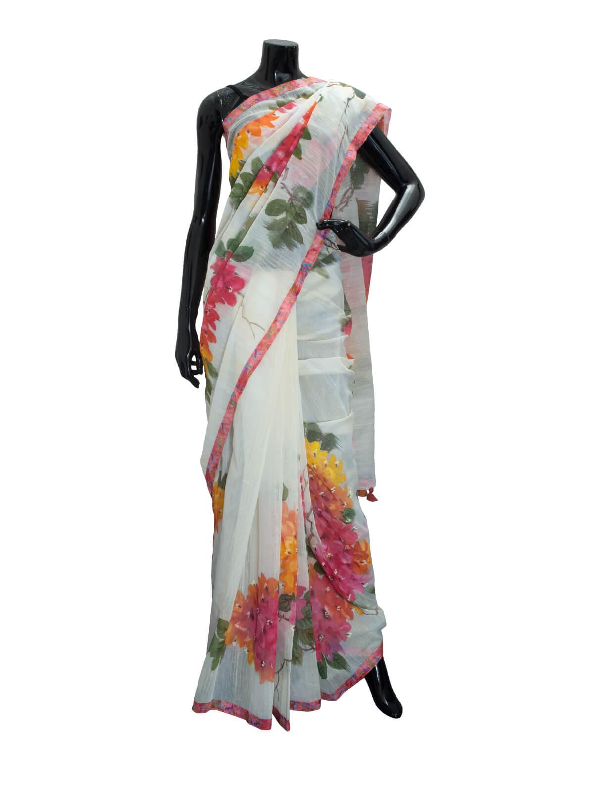 Hand Loomed Half Silk Saree For Women