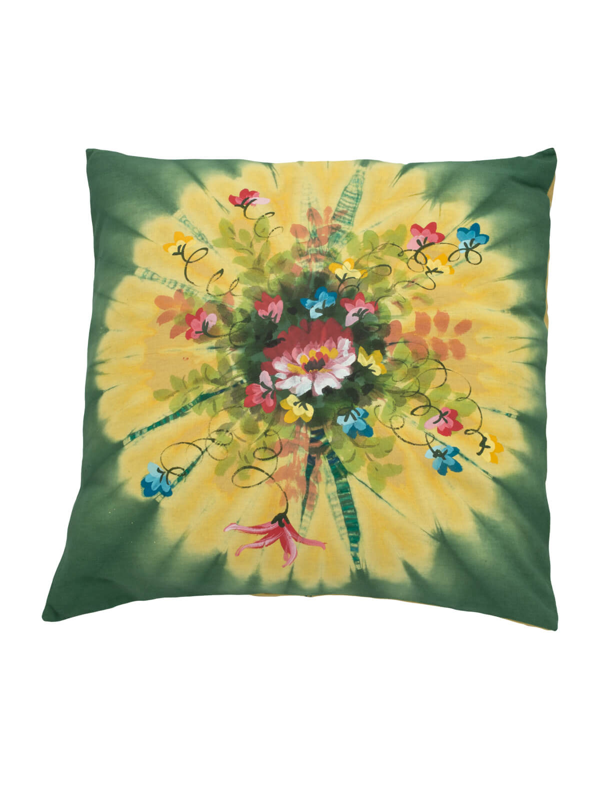 Handmade Wax Dyed Cotton Cushion Cover