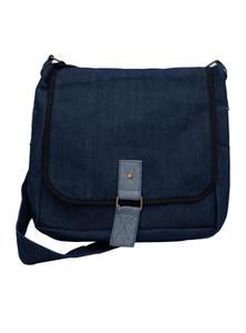 Eco-Friendly Denim Messenger Bag