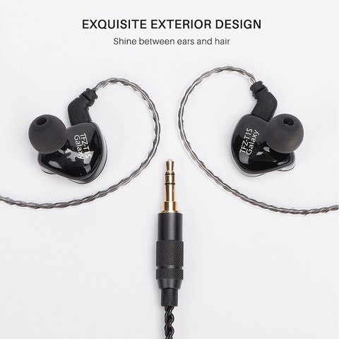 TFZ T1SM Noise Canceling Headphones With Microphone Wired SuperBass Hifi Monitor Music Dj Earphone Hands Free Earbuds