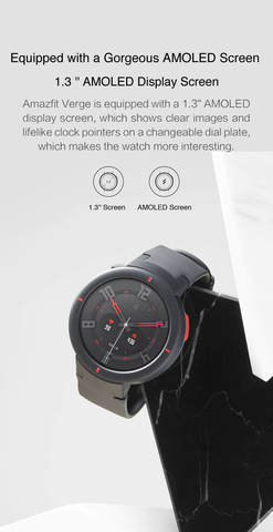 Huami AMAZFIT Verge Lite(Global Version)  Smartwatch IP68 Waterproof Smart Watch GPS AMOLED Sports Fitness Tracker