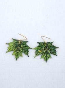 Handmade Wood Studded Vintage Trendy Earrings