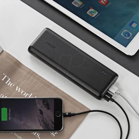 Anker PowerCore 15600 mAh Power Bank with PowerIQ and VoltageBoost • Warranty: 18 months