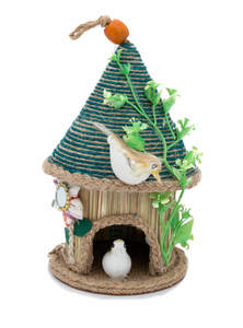Eco-Friendly Jute Traditional Birds House with Birds