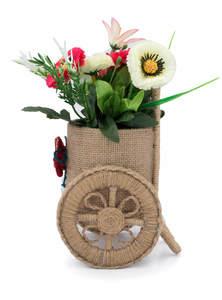 Eco-Friendly Jute Flower Vase with Dry Flower
