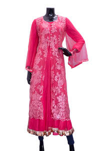 Pink Silk Gown for Women