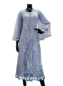 Ash Silk Gown for Women