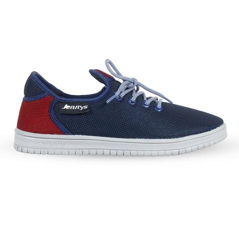 Navy & Red Mesh Sneaker for Men