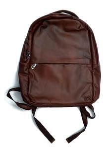 Dark Maroon Leather Backpack
