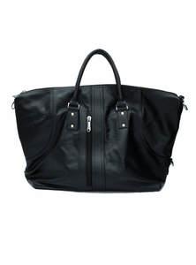 Black Leather Travel Bag For Women