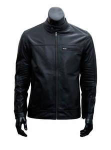 Genuine Black Leather Jacket For Men