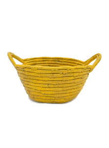 Eco-Friendly Water Hyacinth Fruit Basket With Handle