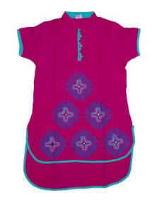 Embroidered Linen Salwar Kameez Set