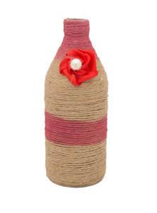 Decorative Jute Twine Beer Bottle Flower Vase