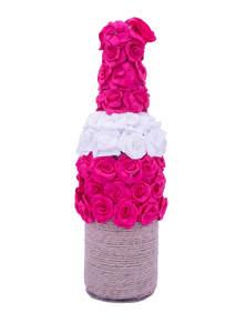 Decorative Jute Twine Wine Bottle Flower Vase
