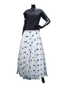 Embroidered Silk Skirt Top Set