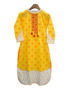Ladies Embroidered Cotton Kurta