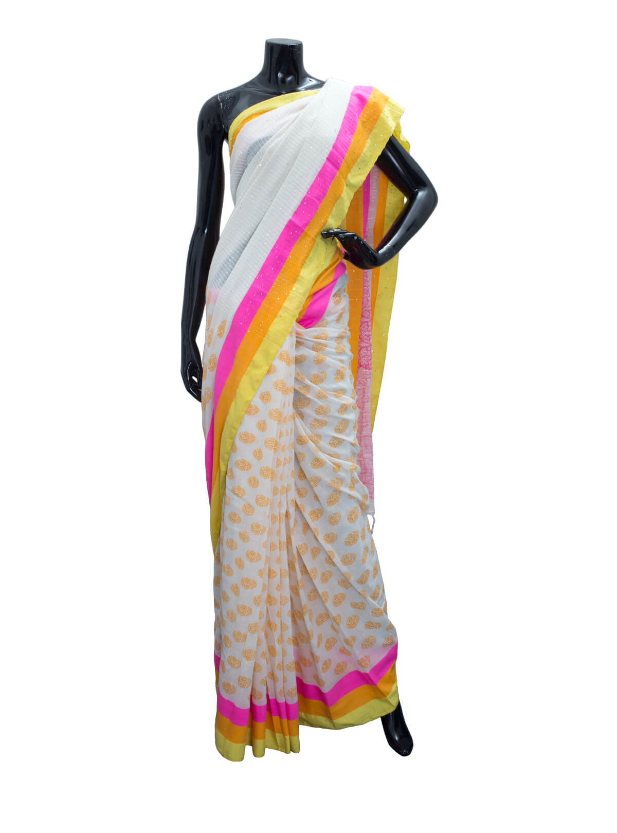 Block Printed Sirajgonj Cotton Saree