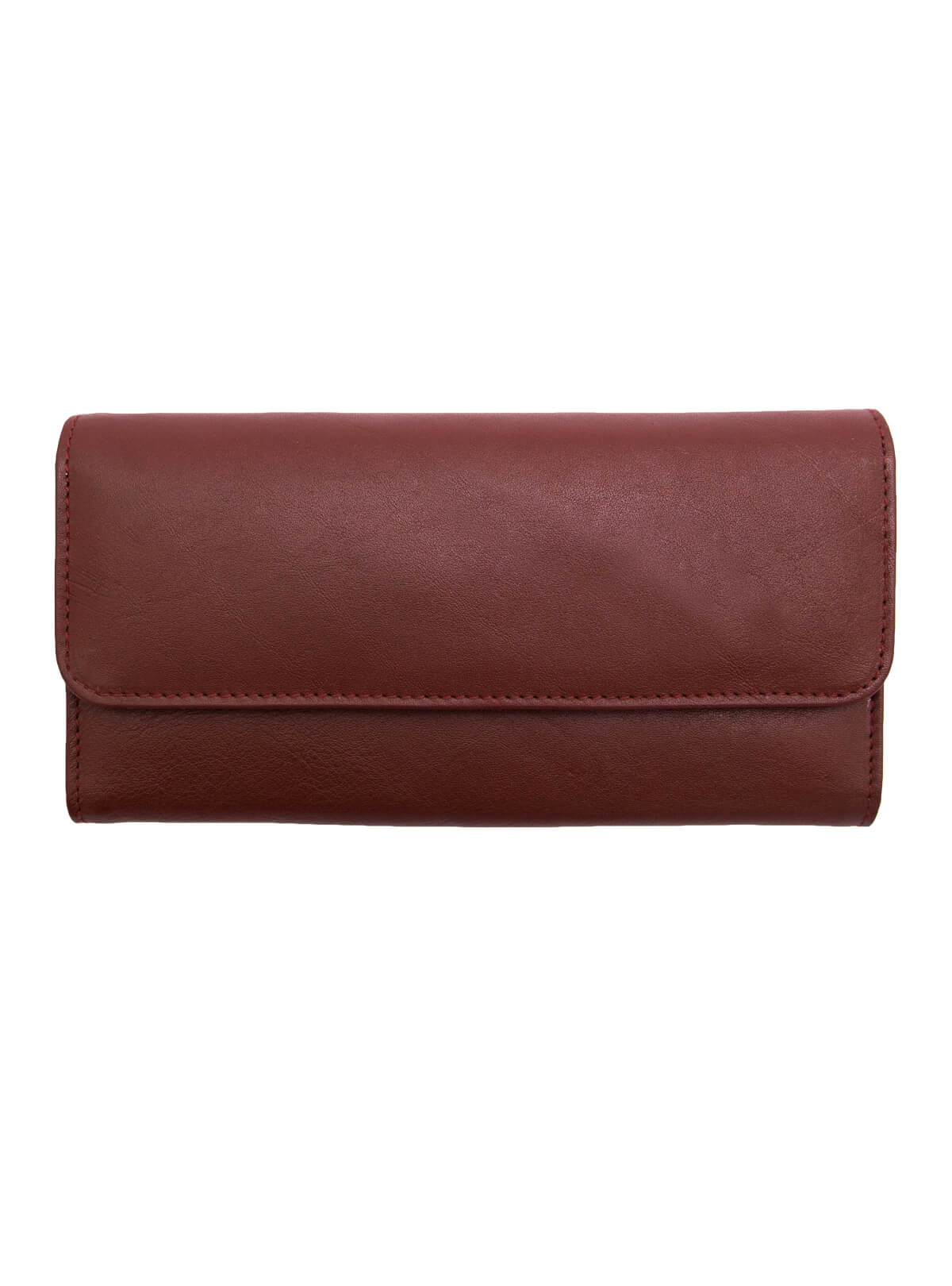 Chocolate Leather Wallet and Mobile Holder
