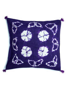 Wax Dyed Cotton Cushion Cover