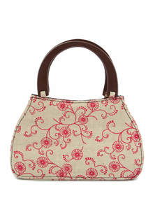 Eco-Friendly Embroidered Ladies Party Bag
