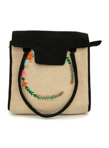 Eco-Friendly Embroidered Ladies Tote Bag