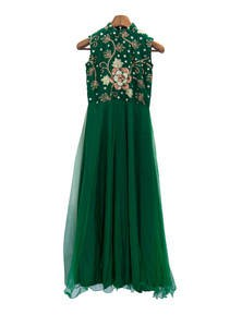 Embroidered Georgette Net Gown