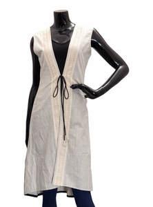 Ladies Khadi Cotton Long Coat