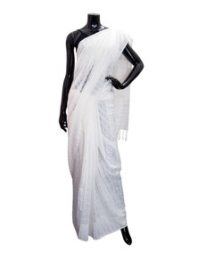 Striped Rayon Saree For Women