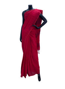 Striped Khadi Cotton Saree For Women