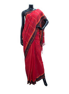 Striped Cotton Saree For Women