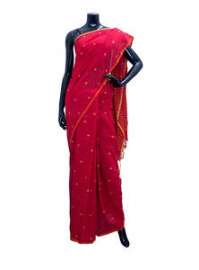 Embroidered Cotton Saree For Women