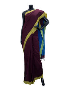 Hand Loomed Half Silk Saree For Women