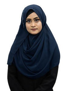 Embroidered Instant Hijab for Elegant Muslim Women