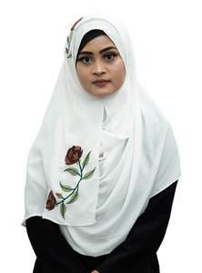 Embroidered Double Loop Instant Hijab for Elegant Muslim Women