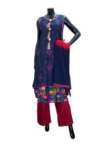 Embroidered Floor Touch Ladies Dress for Women