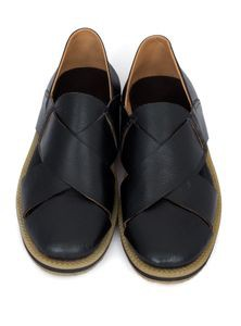 Leather Slip-On Cycle Shoes