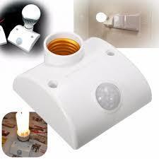 PIR Infrared Motion Sensor Holder for Light - White